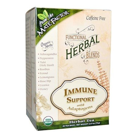 Mate Factor Immune support with adaptogens herbal tea blend 20 tea bags 2 PACK OC Beautymate Herb Tea