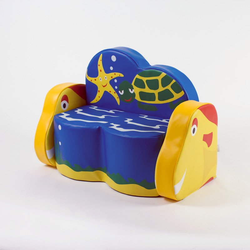 Kalokids Ocean Life Turtle 2 Seat Sofa with Arms