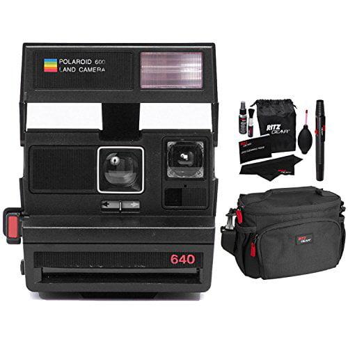 Impossible Polaroid 600 Square Black Camera, Ritz Gear De...