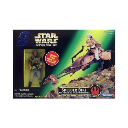 Star Wars - Power of the Force - Speeder Bike with Princess Leia Organa in Endor - Princess Leia Endor