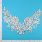 "Expo Int'l 16 3/4"" x 12"" Vintage Lace Flower Collar"