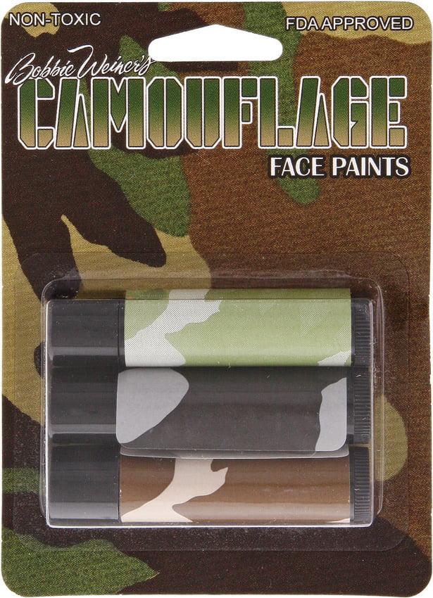 Camouflage Face Paint CAMT3000 Camo Facepaint Stick 3 Colors by Camouflage Face Paint