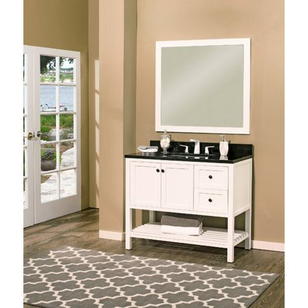 NGY Stone & Cabinet Hampton Bay 42'' Single Bathroom Vanity with Mirror Hampton Vanity Cabinet