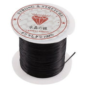 Unique Bargains Elastic Stretch Jewelery Bracelet Making String Beading Cord Roll Black 10M Long