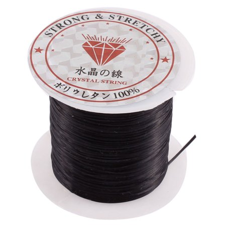 Unique Bargains Black Elastic Stretch Jewelery Bracelet Making String Beading Cord (String Bracelet)