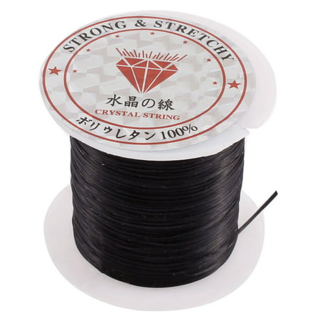 Unique Bargains Elastic Stretch Jewelery Bracelet Making String Beading Cord Roll Black 10M (Elastic Stretch Bracelet)