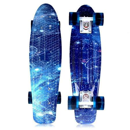 SOLOMONE CAVALLI Retro Skateboards Mini Board Penny Style Design Complete 22