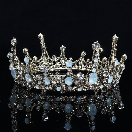 Baroque Bridal Jewelry Vintage Crystal Pearl Queen Crown Tiaras Headband USA - Tiara Head Band