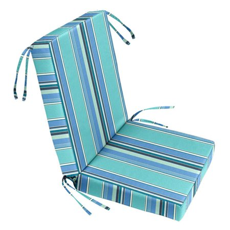 Cushion Source Striped Sunbrella Chair Seat And Back Cushion Set