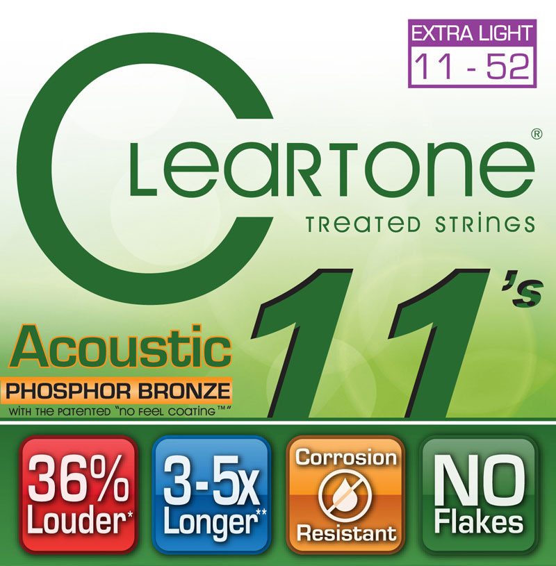 Cleartone 7411 EMP Micro Treated Acoustic Guitar Strings (11-52) by Cleartone