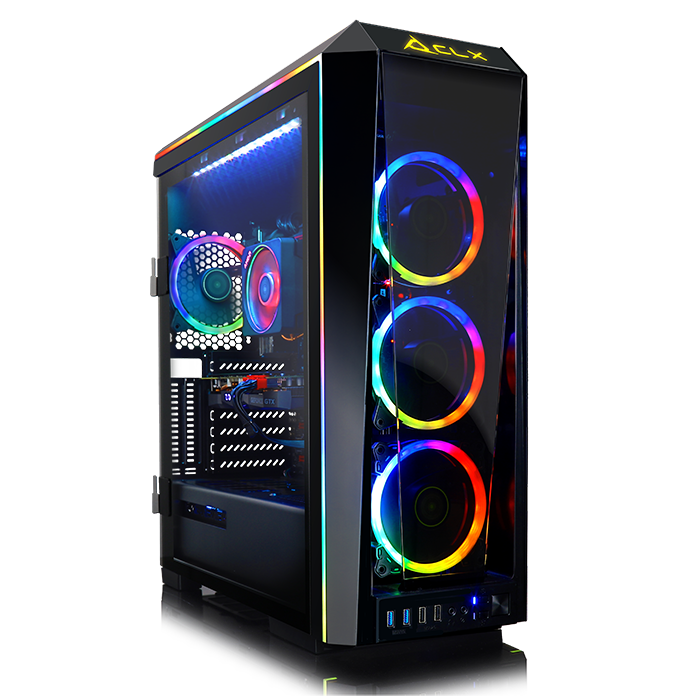 CLX Set GAMING PC Intel Core i9 9900K 3.60 GHz (8 Core) 16GB DDR4 3TB HDD & 960GB SSD NVIDIA RTX 2080 8GB GDDR6 MS Windows 10 64-Bit and Battlefield V + Anthem - Game Bundle