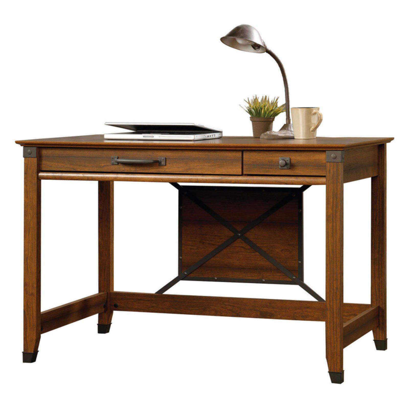 Sauder Carson Forge Writing Desk Washington Cherry Finish Walmart Com