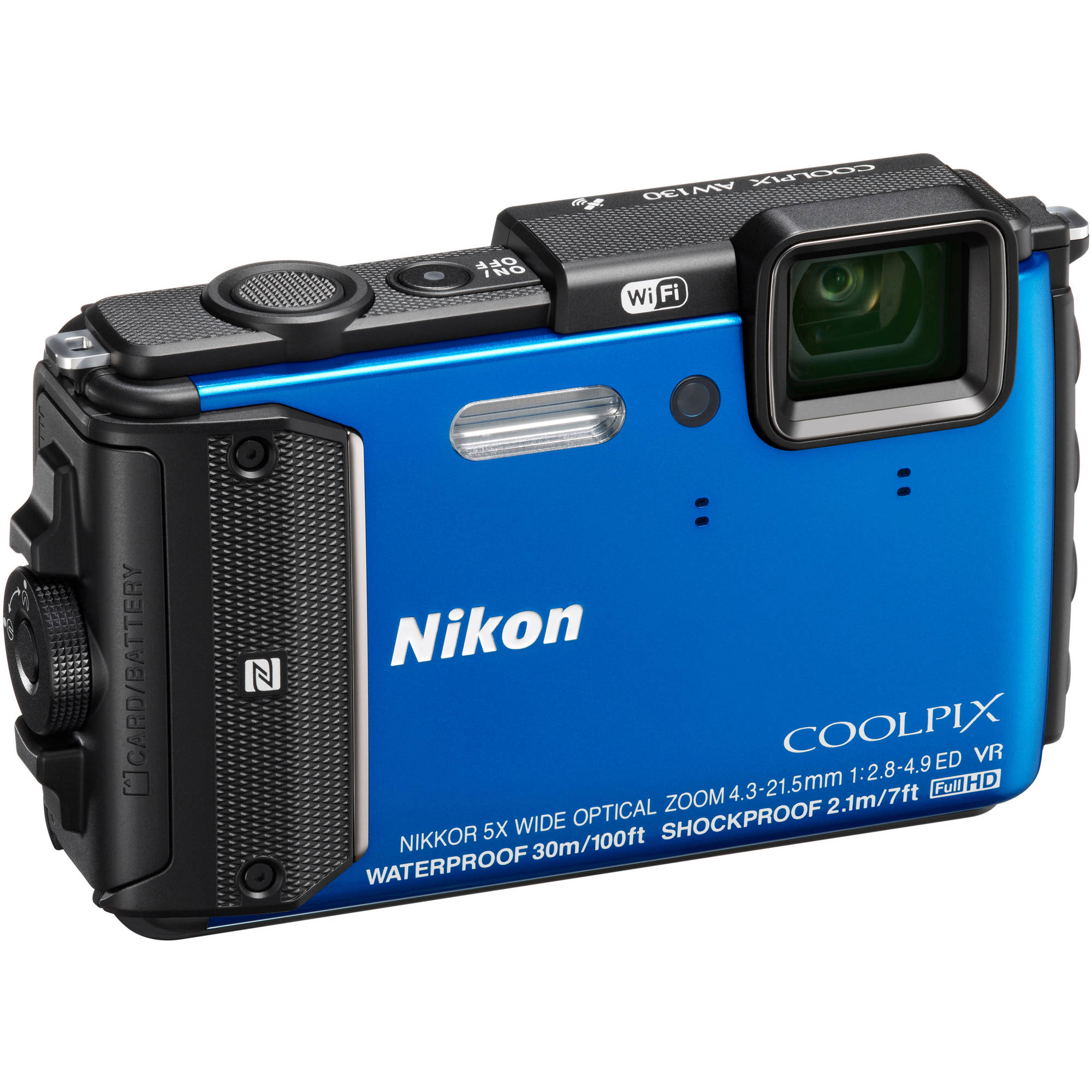 Nikon COOLPIX AW130 Digital Camera with 16 Megapixels and 5x Optical Zoom