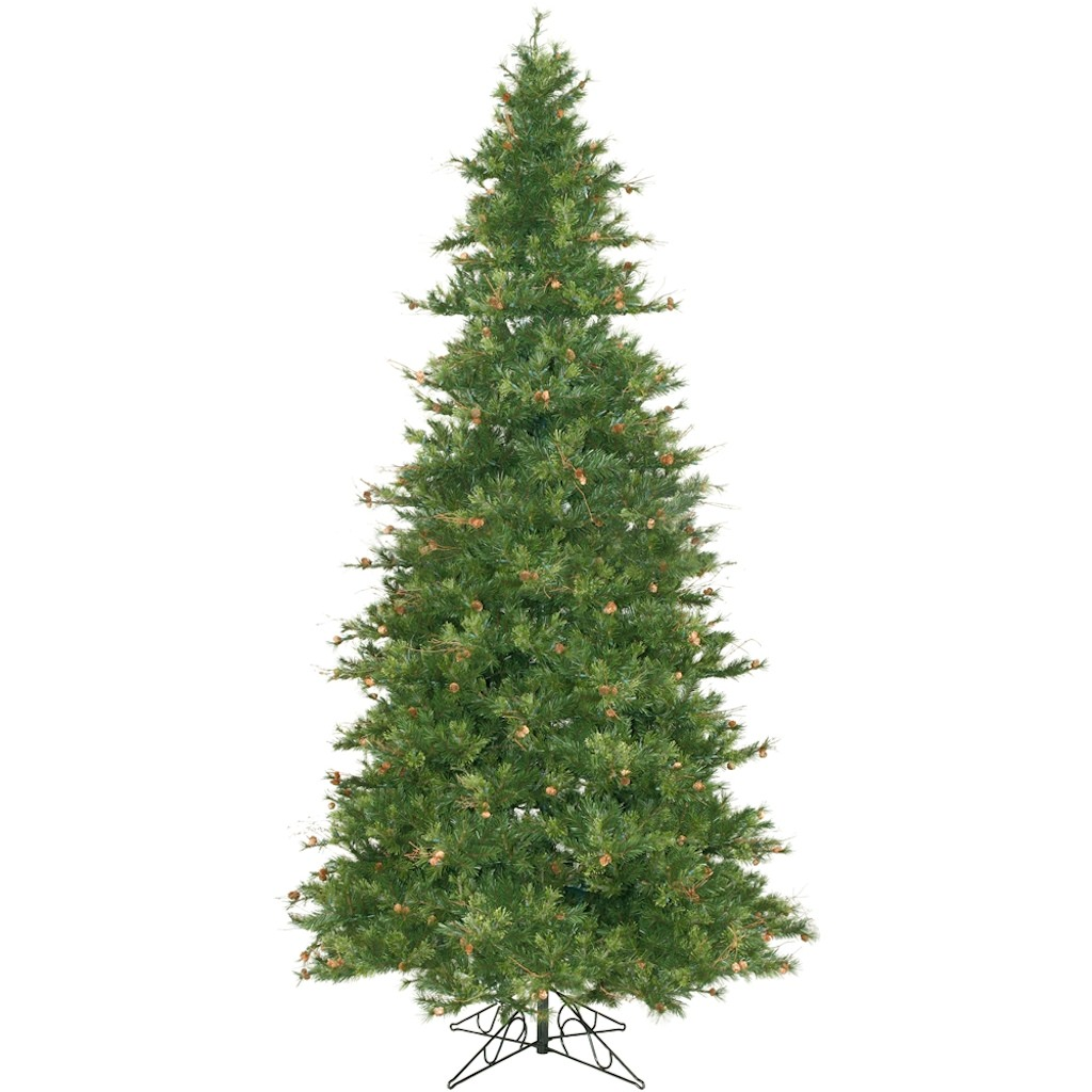 "Vickerman 06323 - 12' x 76"" Mixed Country Pine Slim with Pine Cones and Grapevines Christmas Tree (A801690)"