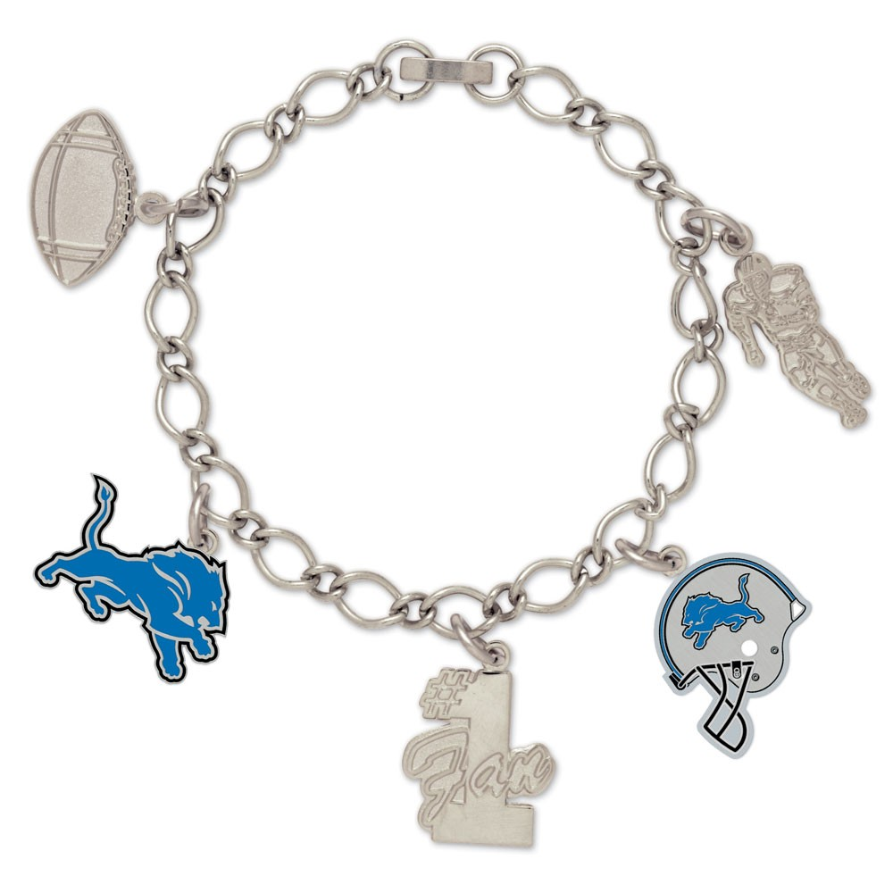 Detroit Lions Official NFL 7 inch  Charm Bracelet by Wincraft
