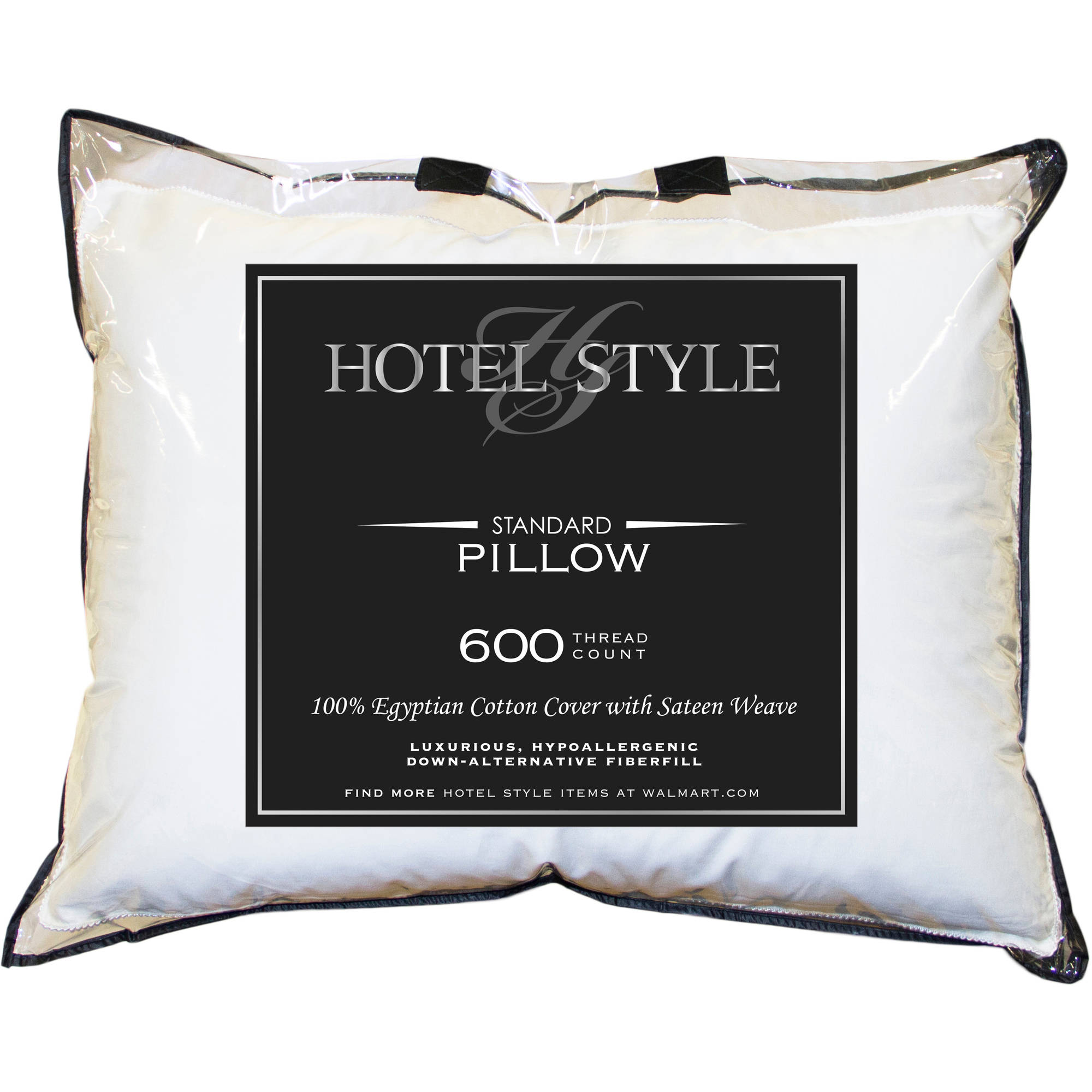 Hotel Style Cotton 600 Thread Count Egyptian Pillow, 1 Each