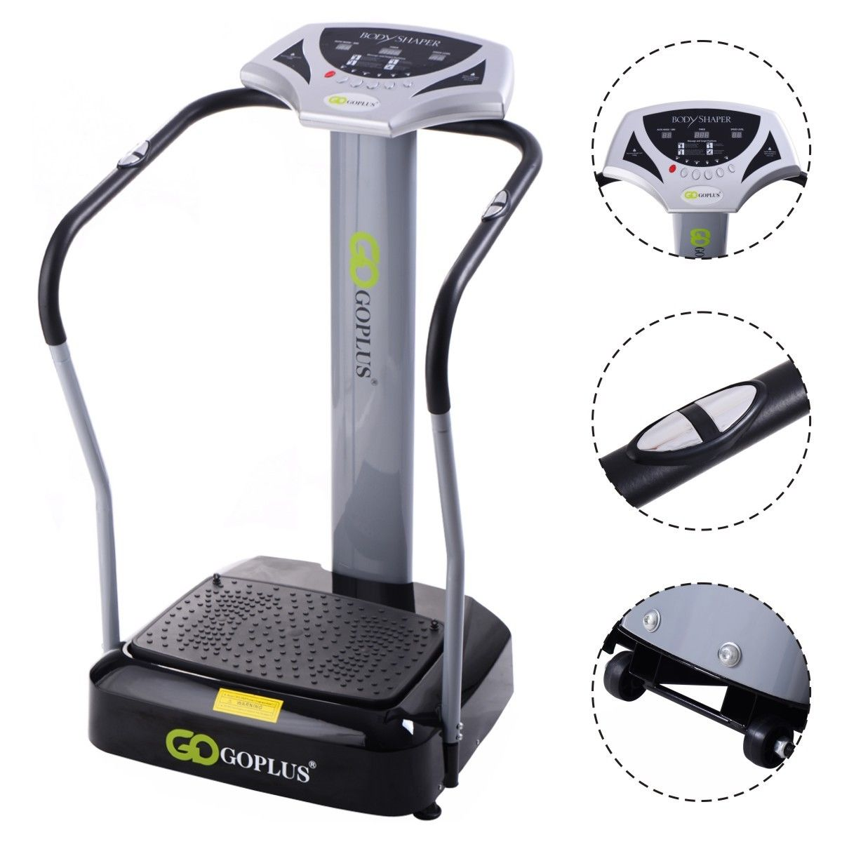 Goplus 2000W Crazy Fit Whole Body Vibration Platform Exer...