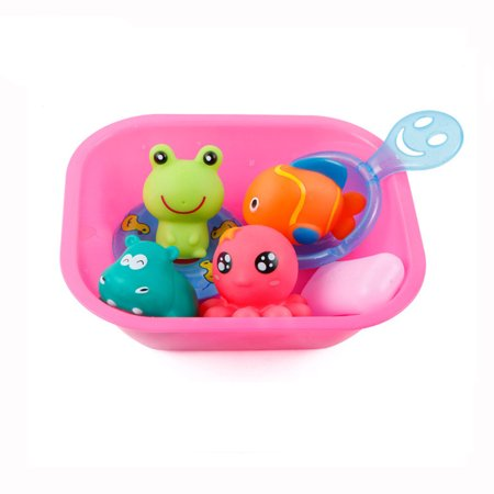 Iuhan Baby Bath Toys Cartoon Marine Animals Kids Bathtub Salvage Toys For Toddlers