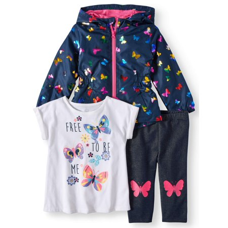 T-Shirt, Legging & Windbreaker, 3pc Outfit Set (Toddler Girls) - German Girl Outfits