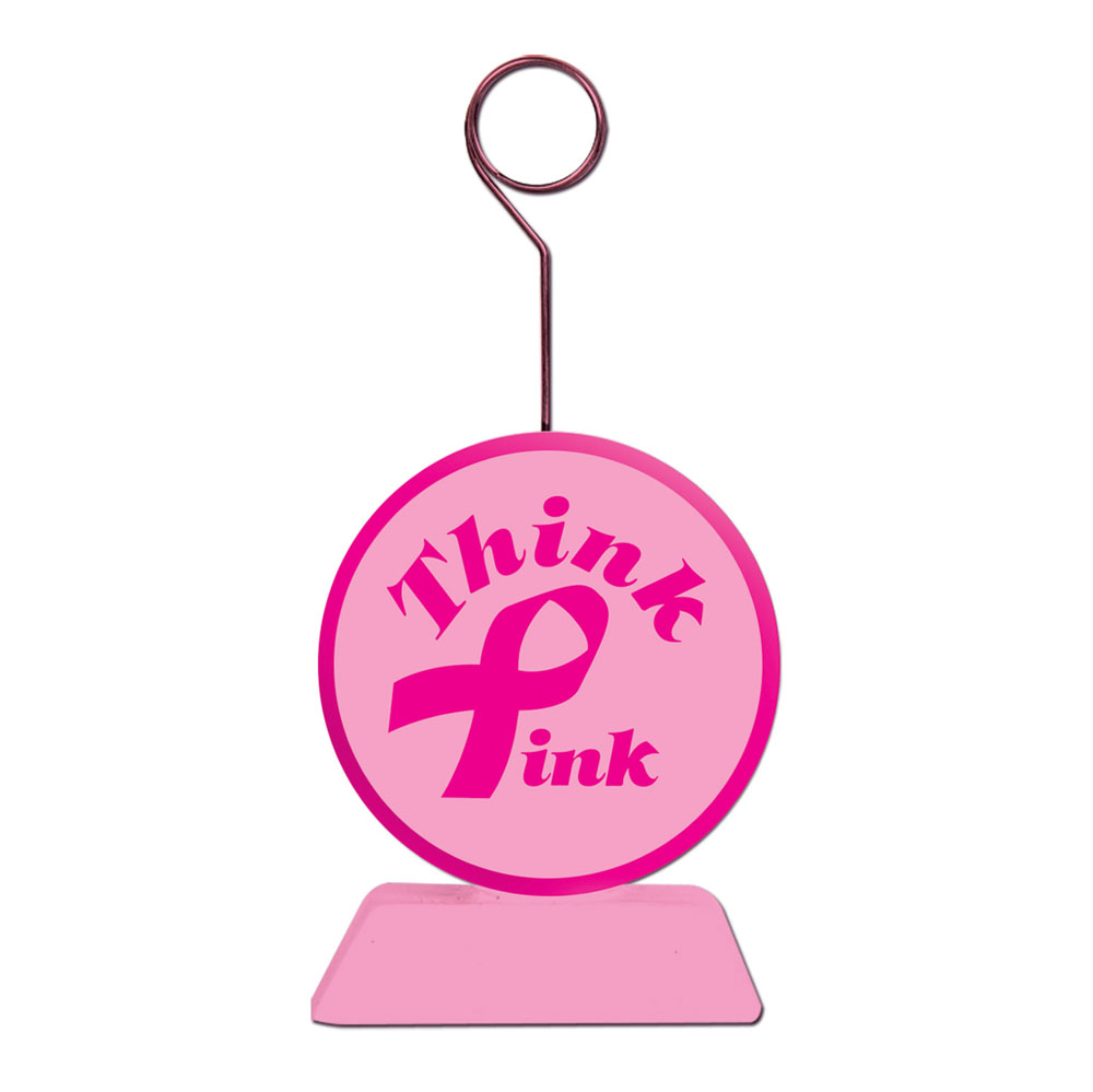 Pink Ribbon Photo Holder Weight