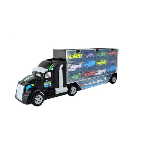 12pcs Technology Series Loading Truck Car Model Technic Blocks Set Construction DIY Toys Enlighten Toy For Children