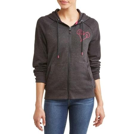 EV1 from Ellen Degeneres Love Scribble Zip-Up Hoodie Women's (Black) - Ellen Degeneres Walking Dead Halloween