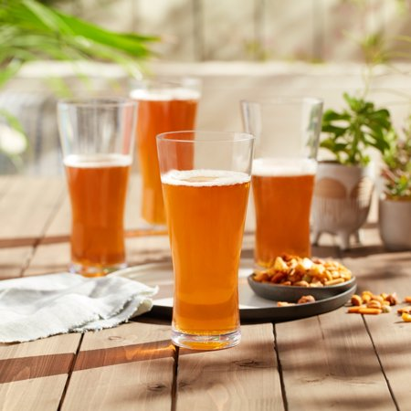 Libbey Indoors Out Break-Resistant Craft Brews Pilsner Beer Glasses, 20-ounce, Set of (Libbey Stockholm Pilsner)