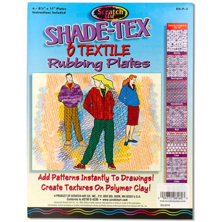 Melissa & Doug Scratch Art Shade-Tex Rubbing Plates - Textiles 6-Pack
