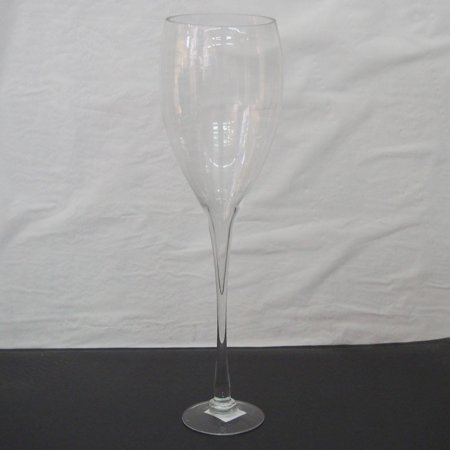 Clear Glass Tall Champagne Vase Wedding Centerpiece 23 Inch