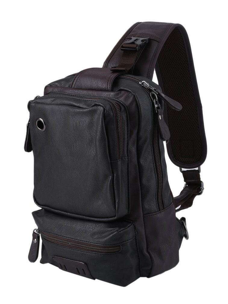 Cross Body Messenger Bag Shoulder Backpack Travel Rucksack Sling Bag, Black by