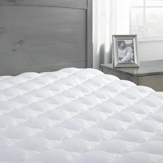 amazon perfect down home alternative mattress white size fit loft top com pad pads dp thread pillow queen count magic kitchen