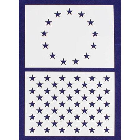 Starwars Pumpkin Stencil (US / American Flag Mini-Stencils - 13 Star Revolutionary War & 50 Star Fields - 5
