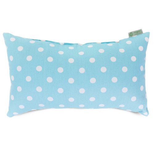"""Majestic Home Goods Small Polka Dot Small Pillow, 20"""" x 12"""" (Aquamarine) - image 1 of 1"""