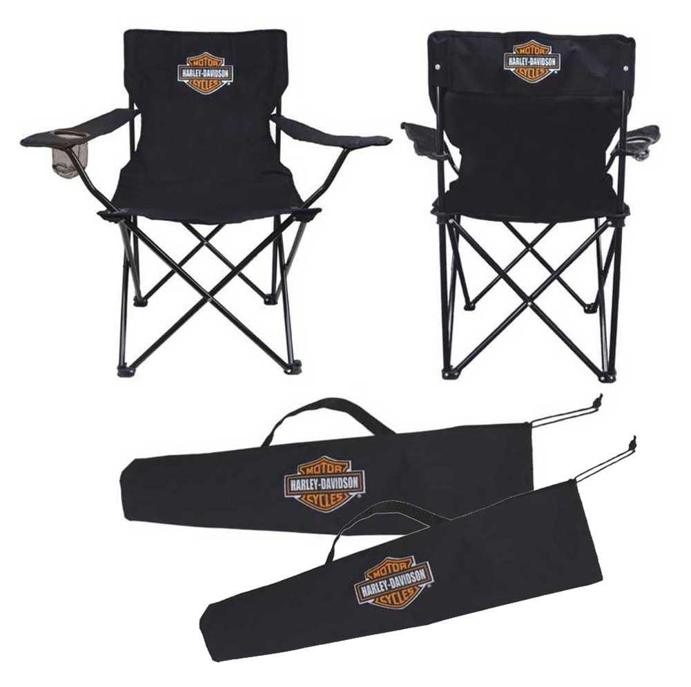 Harley Davidson Compact Bar Amp Shield Chair Black Ch30230