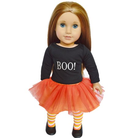 Doll Tights (Halloween Boo Outfit for American Girl DollsComes with Shoes and)