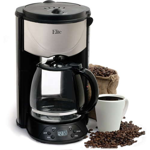 Elite Platinum 12-Cup Programmable Coffee Maker, EHC-646T