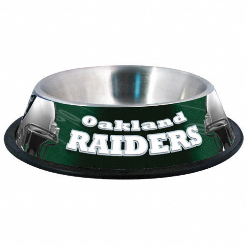Nfl Oakland Raiders Stainless Steel Dog Bowl Walmart Com