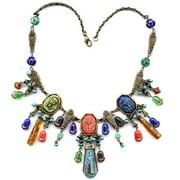Sweet Romance  King Tut Ancient Egyptian Cleopatra Czech Glass Necklace