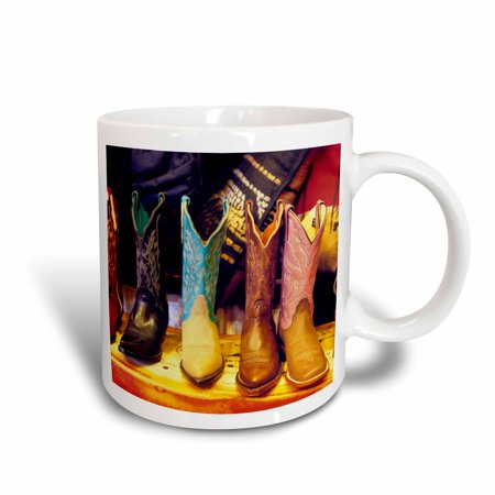 3dRose Cowboy boots, Old Town Albuquerque, NM - US32 JGI0001 - Jerry Ginsberg, Ceramic Mug, 11-ounce - Cowboy Boot Glass Mug