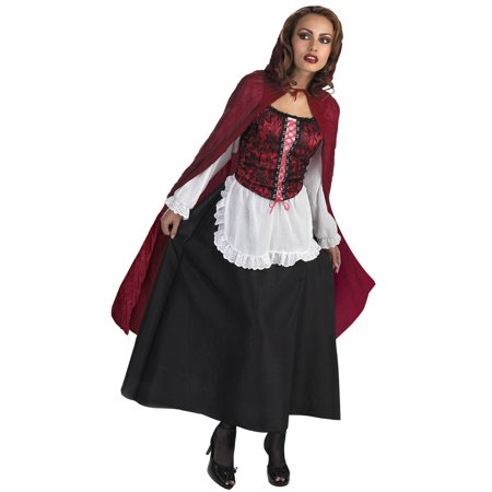 Red Riding Hood Halloween Adult Costume - One Size - Little Red Riding Hood Costume Child