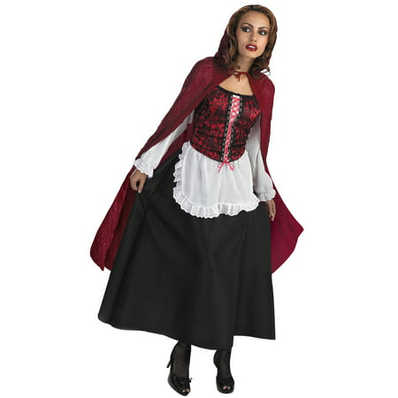 Red Riding Hood Halloween Adult Costume - One Size - Halloween Costumes Red Lipstick
