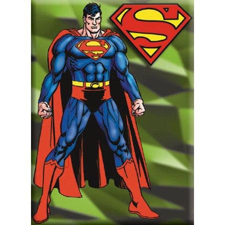 Superman Green Background Refrigerator Magnet
