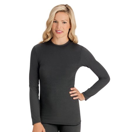 Women's Ladies Thermal Long Sleeve Tee Shirt, Undershirt, Stretchy, Form Fitting, X-Large, (Best Long Sleeve Undershirts)