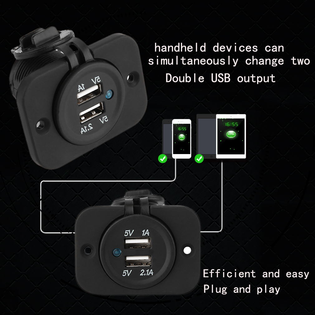 5V/3.1A Dual USB Car Vehicle Cigarette Lighter Chargers Power Adapters