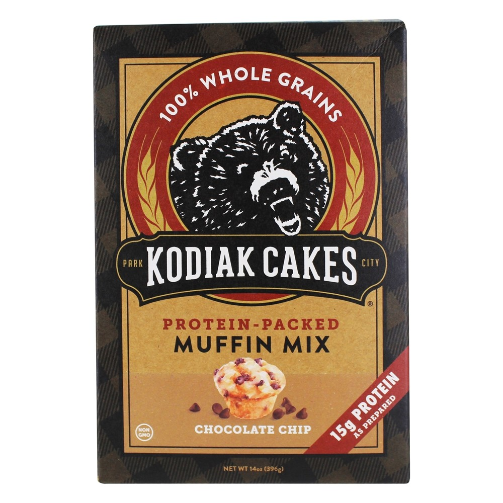 Kodiak Cakes - Protein-Packed Muffin Mix Chocolate Chip - 14 Oz. (Pack of 2)