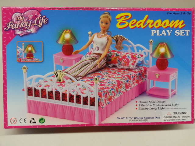 Beau Gloria My Fancy Life Bedroom Set , Barbie Size Dollhouse Furniture