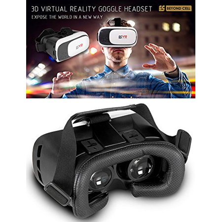 3D VIRTUAL REALITY HEADSET GLASSES FOR iPHONE 6 6S PLUS ANDROID GALAXY S5 S6 S7 EDGE SMARTPHONE, Simply insert your smartphone in the adjustable tray.., By Beyond