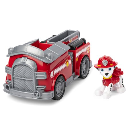 PAW Patrol, Marshall's Fire Engine Vehicle with Collectible Figure, for Kids Aged 3 and Up (Mars Ball)