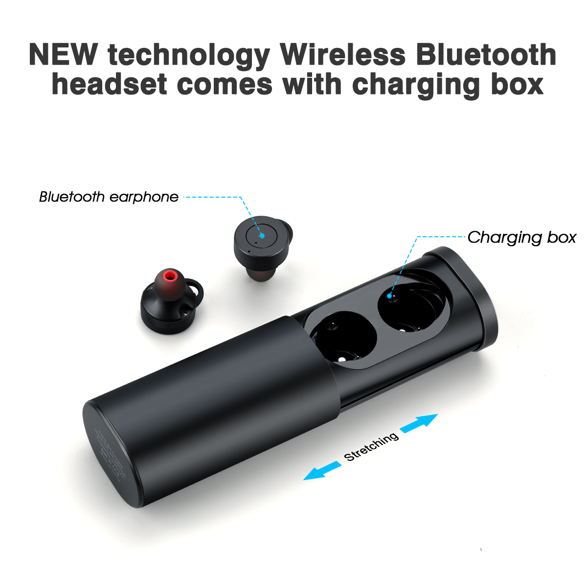 78920f13911 True Wireless Earbuds Stereo Bluetooth Headphones with Charging Case. Premium  Sound - Secure Fit - Easy to Pair - Walmart.com