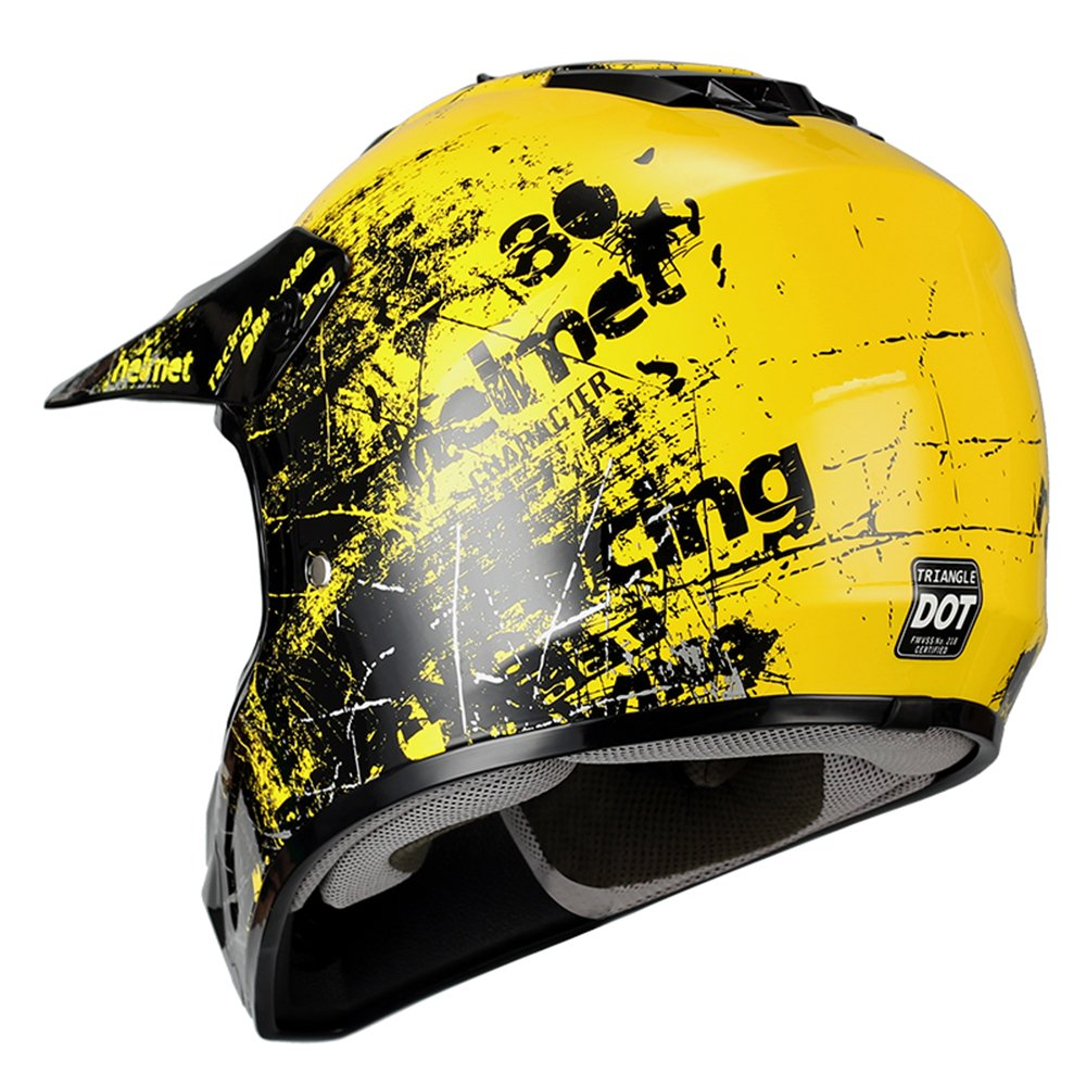 Triangle Motorcycle Helmets Youth Off Road Sport ATV Motocross Dirt ...